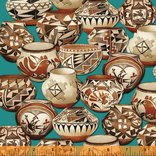 Trading Post Pottery Turq