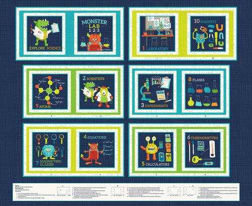 Monster Lab Book Panel Navy