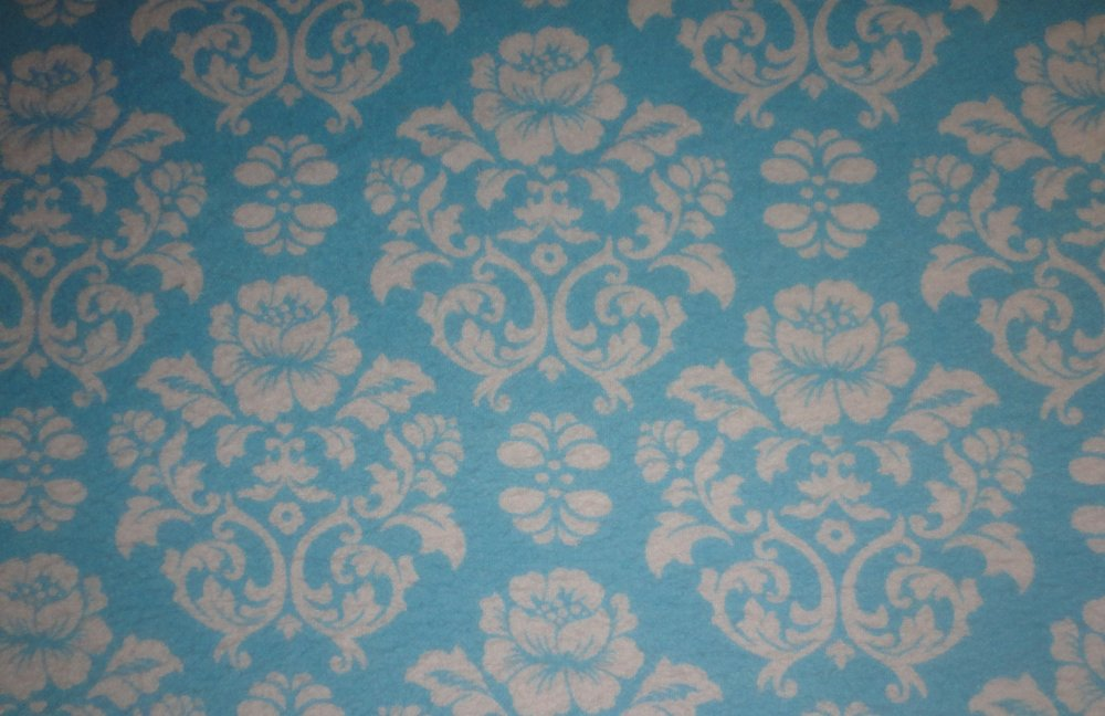 Cozy Cotton  Aqua  Flowers   FIN-10532-70