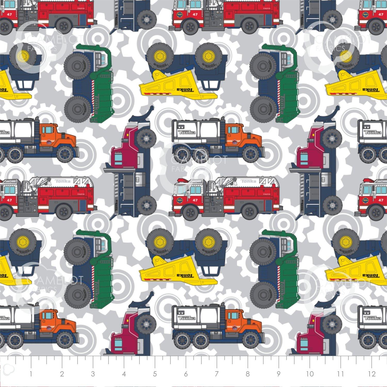 Tonka Trucks on Grey