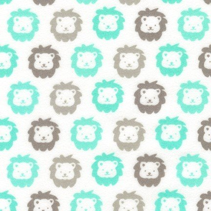 Cozy Flannel Lions Mint