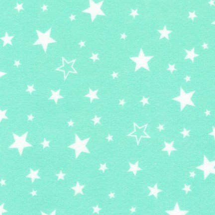 Cozy Flannel Seafoam Stars