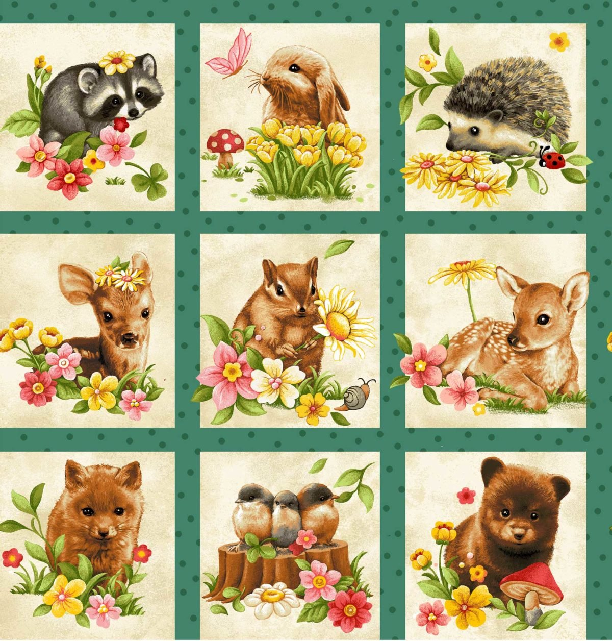 Forest Babies Squares