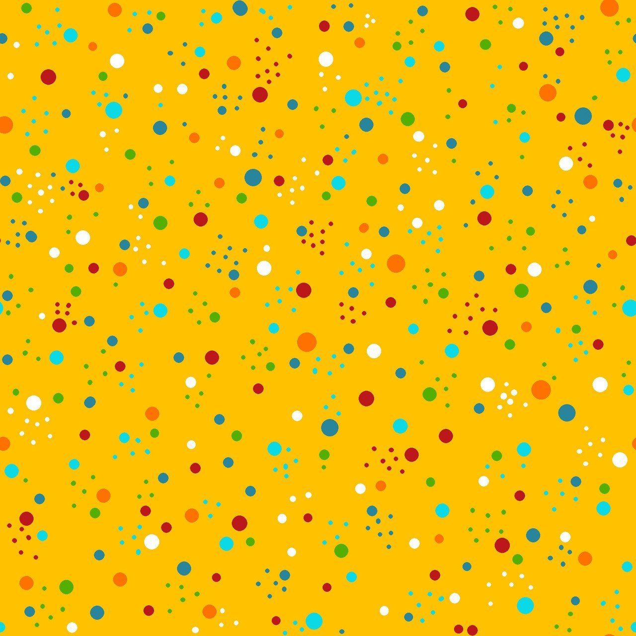 Flower Daze Yellow Dots