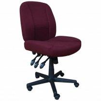 Horn Chair Black Base/Burgundy