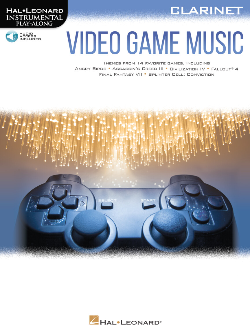 Video Game Music For Clarinet - Instrumental Play-Along Series
