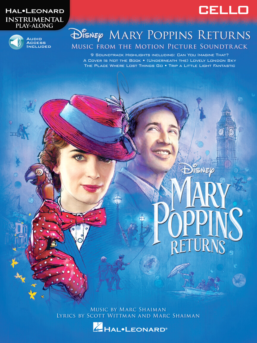 Mary Poppins Returns for Cello - Instrumental Play-Along Series