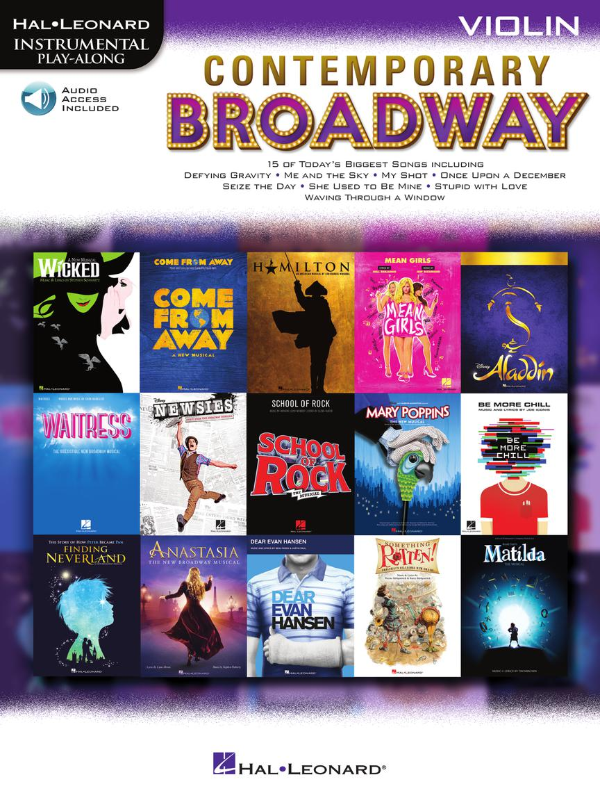 Contemporary Broadway Instrumental Play-Along For Violin