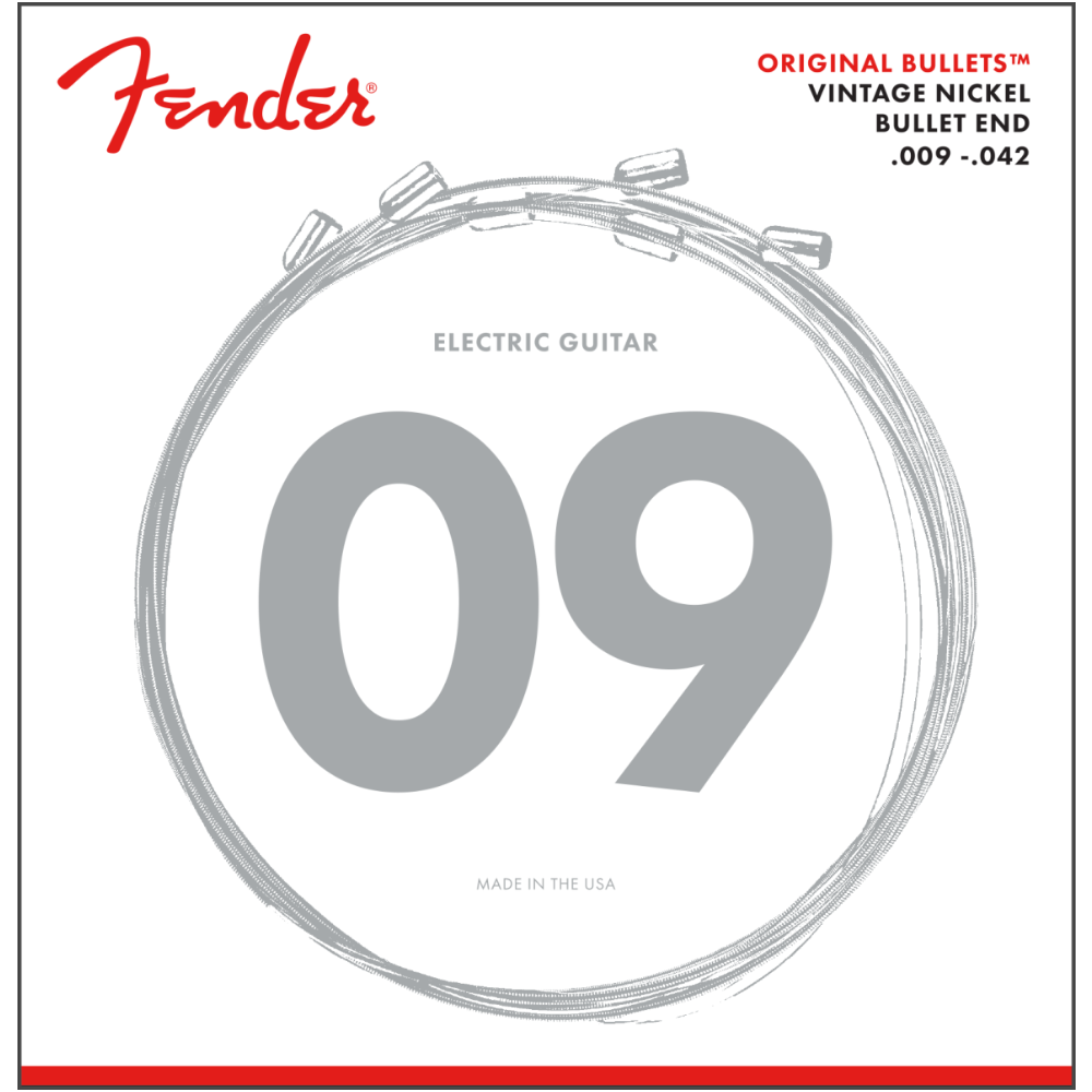 Fender 3150 Original Bullets Electric Guitar Strings - Pure Nickel