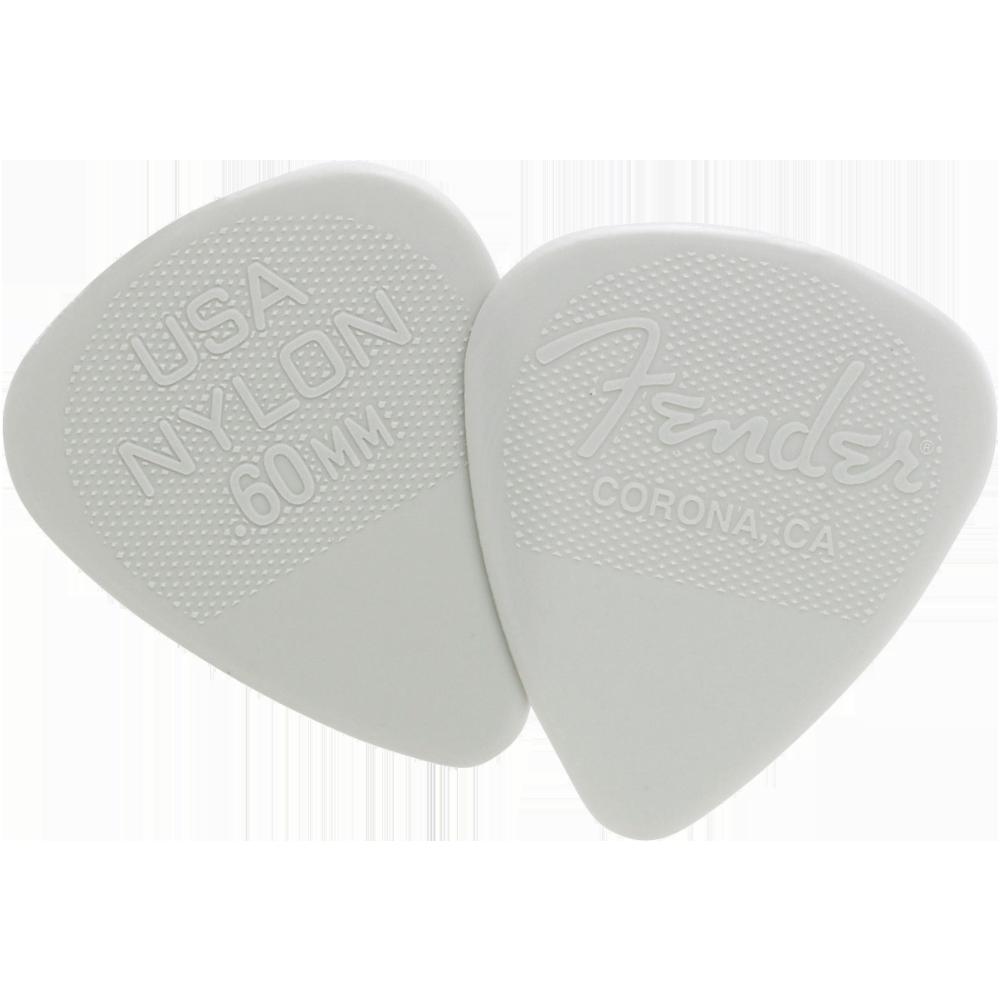 Fender Nylon Picks .60mm - Gray - 12 Pack
