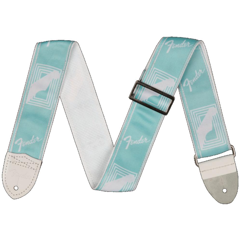 Fender 2 Monogrammed Strap, Daphne Blue