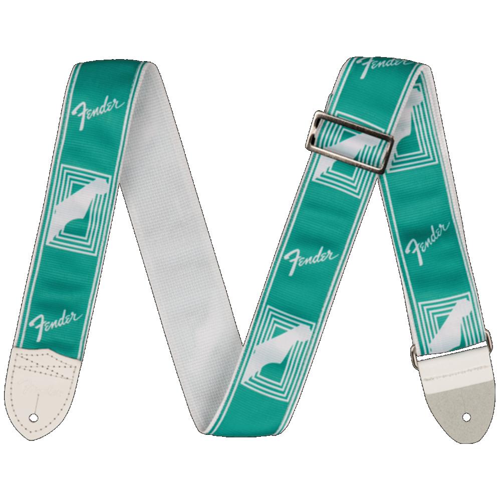Fender 2 Monogrammed Strap, Sea Foam Green