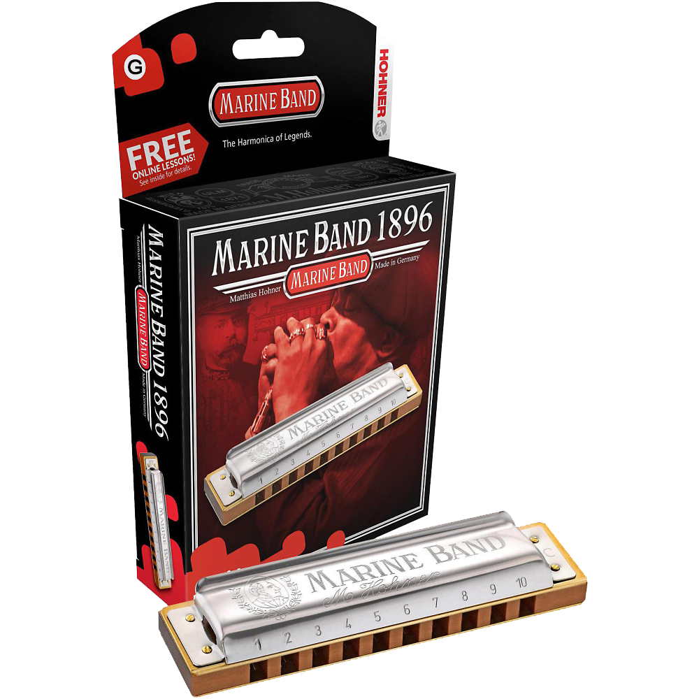 Hohner Marine Band Harmonica Key Of G
