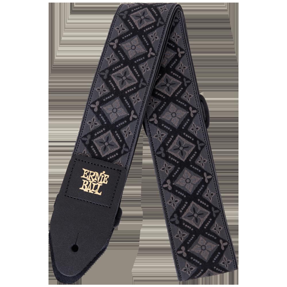 Ernie Ball P04093 Regal Black Jacquard Guitar Strap
