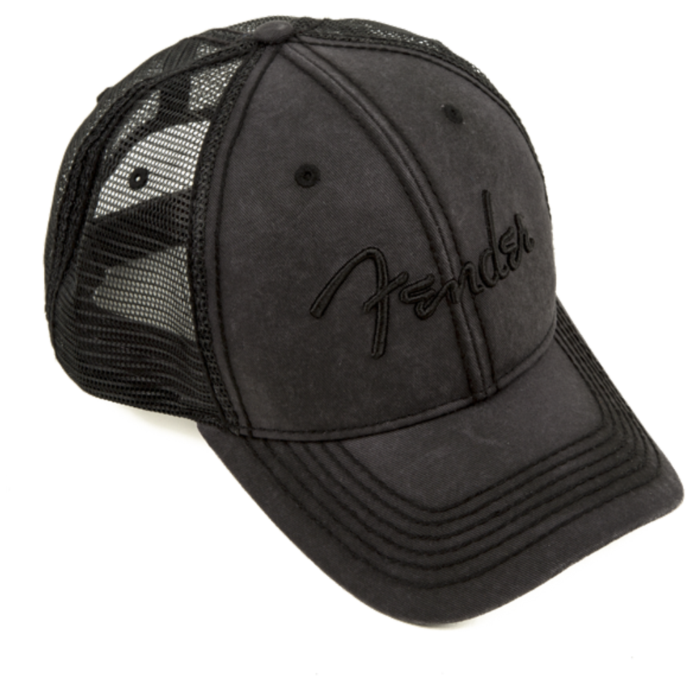 Fender Blackout Trucker Hat - One Size Fits Most