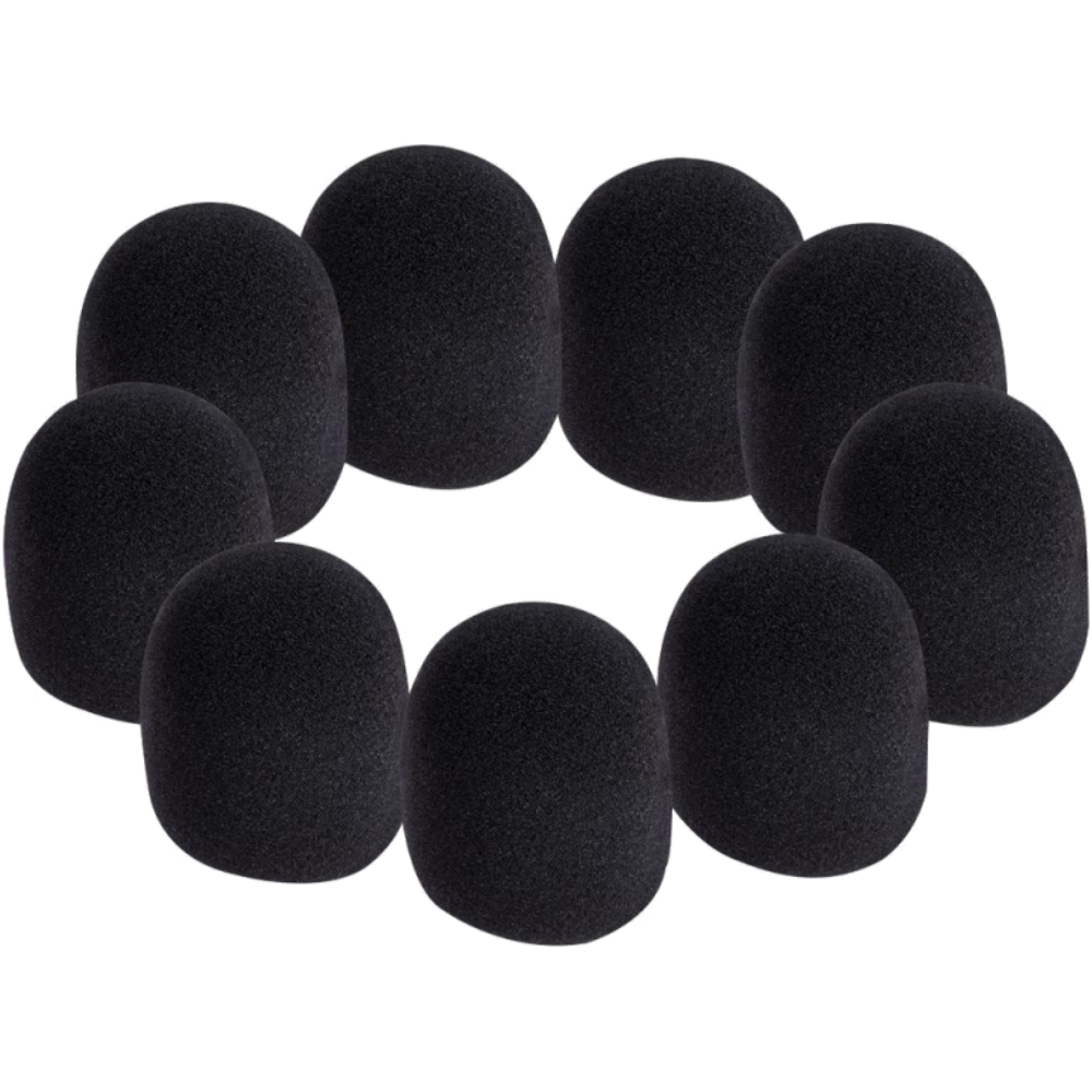 On-Stage Microphone Windscreen Pack - Black