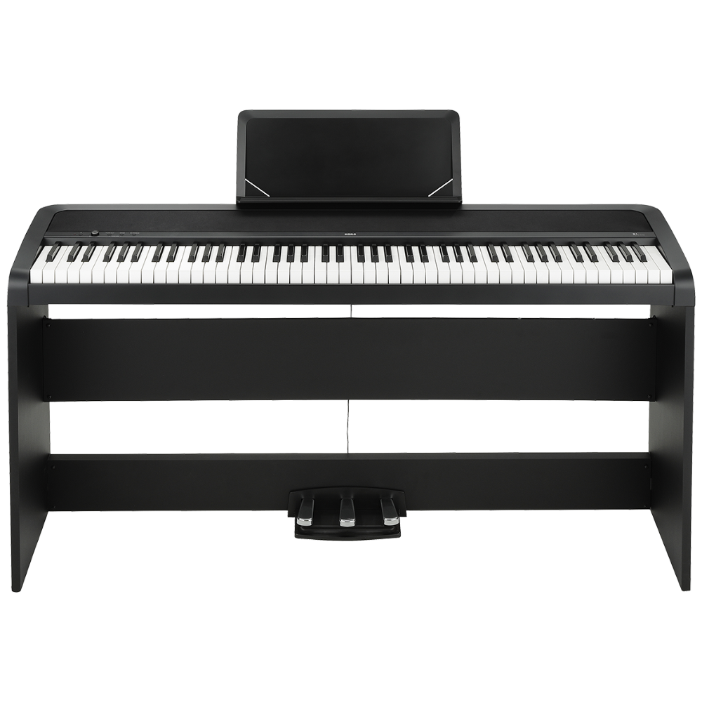 KORG B1 Digital Piano w/Stand & 3 Pedals Black