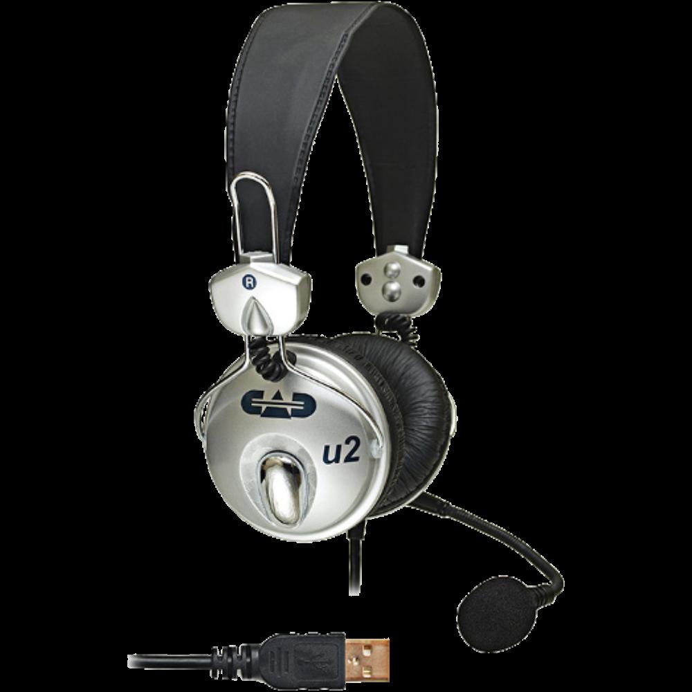 CAD U2 USB Stereo Headphones w/ Cardioid Condenser Microphone