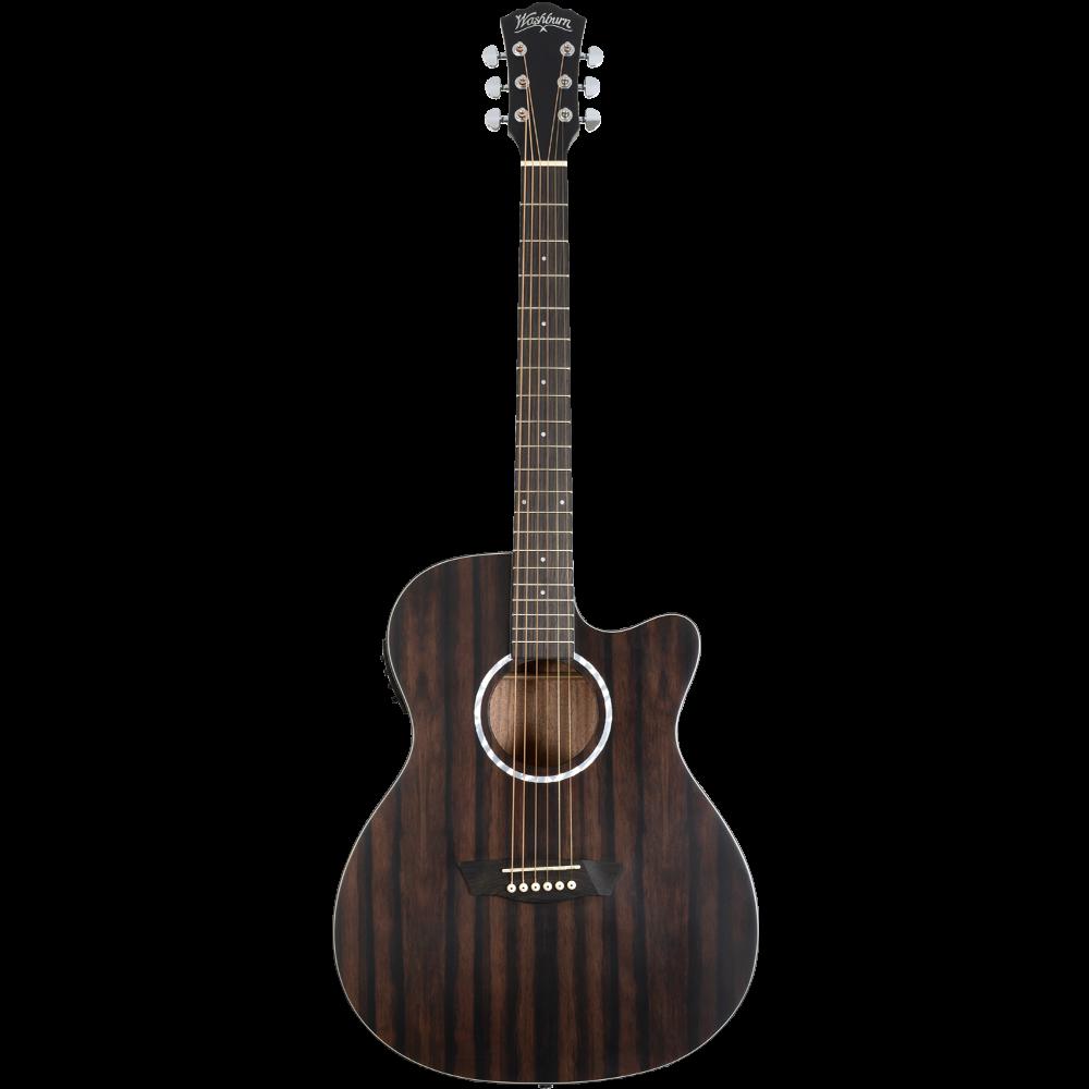 Washburn Deep Forest Ebony Ace Acoustic-Electric