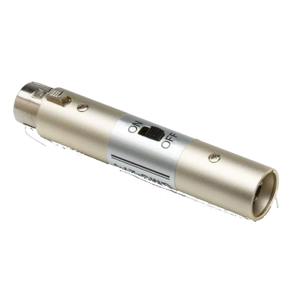 Hosa GMS-274 Mic Power Switch - XLR3F to XLR3M