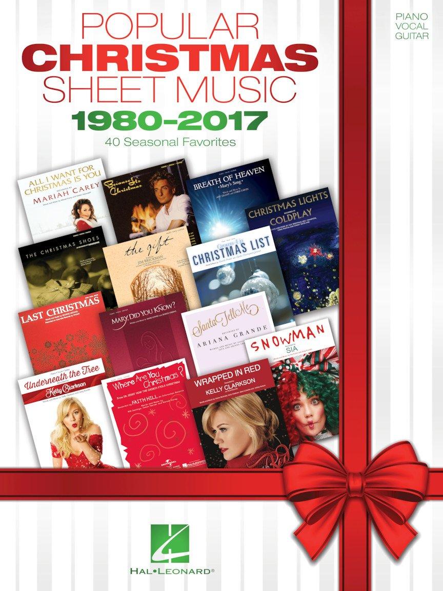Popular Christmas Sheet Music - 1980-2017 - P/V/G