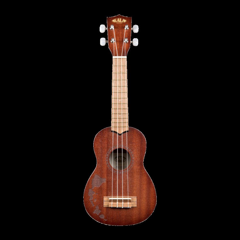 Kala KA-15S-H1 Satin Mahogany Soprano w/Hawaiian Islands