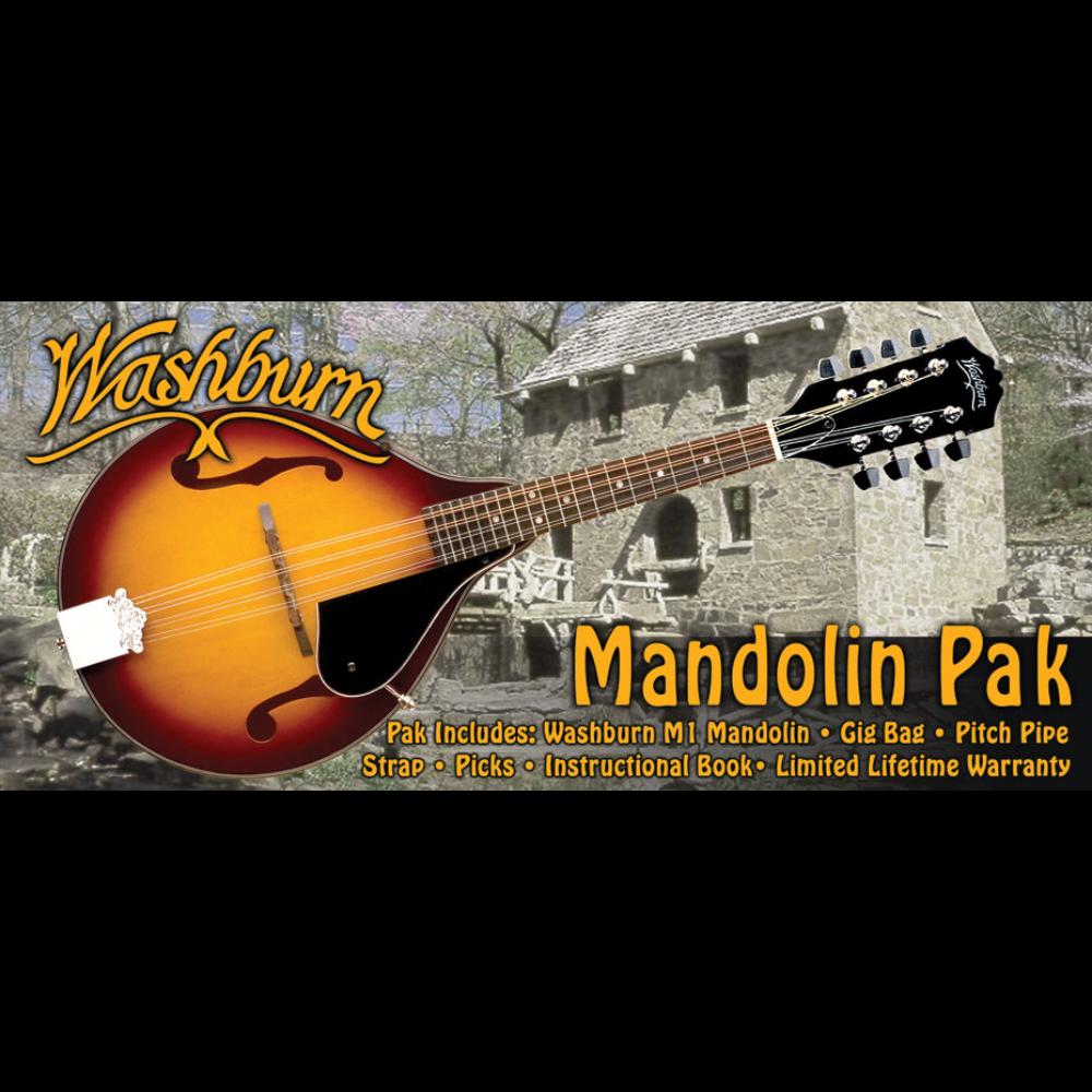 Washburn Mandolin Kit w/Gig Bag - Tobacco Sunburst