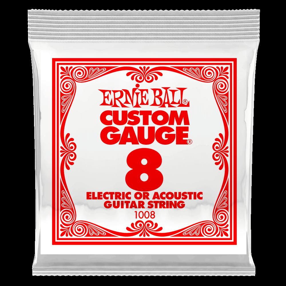 Ernie Ball Plain Steel Single Electric / Acoustic Guitar Strings