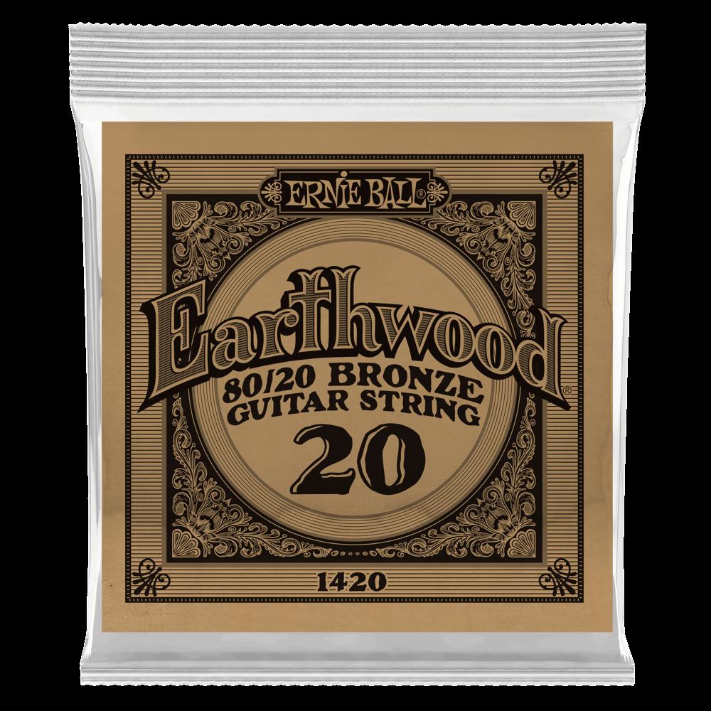 Ernie Ball Earthwood 80/20 Bronze Acoustic Guitar Single Strings
