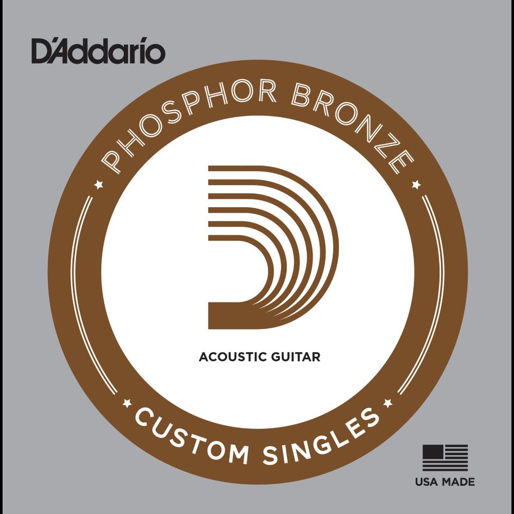 D'Addario Phosphor Bronze Wound Single Strings