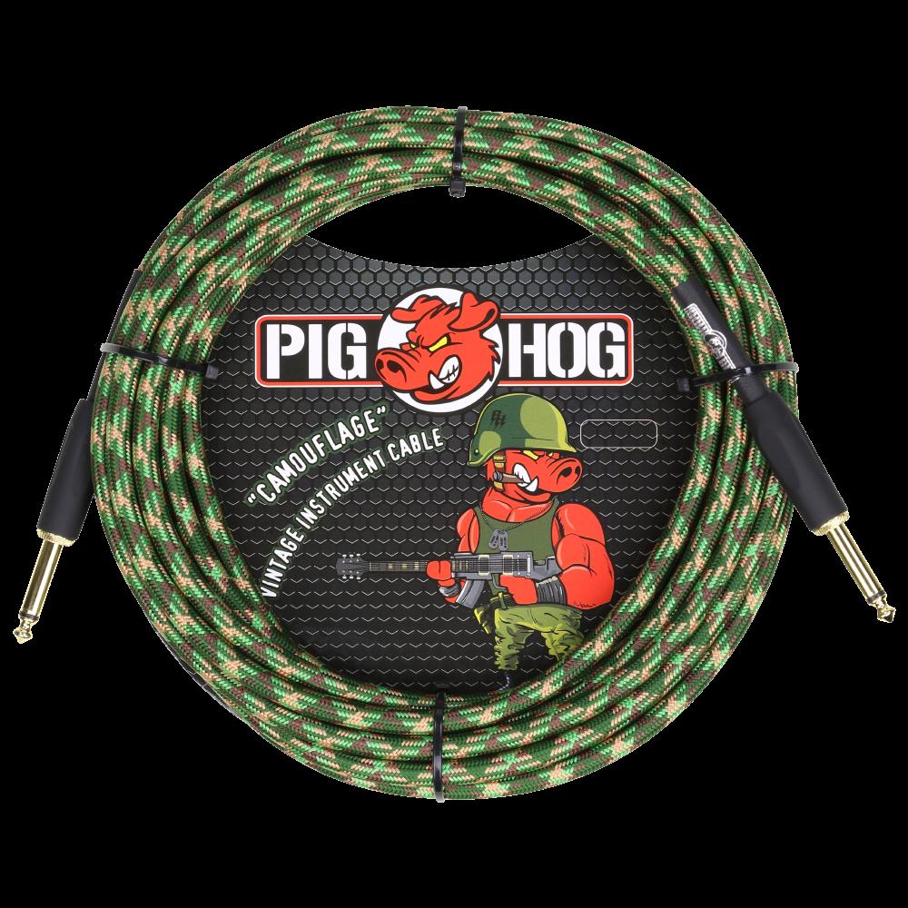 Pig Hog Instrument Cable Camouflage 20ft