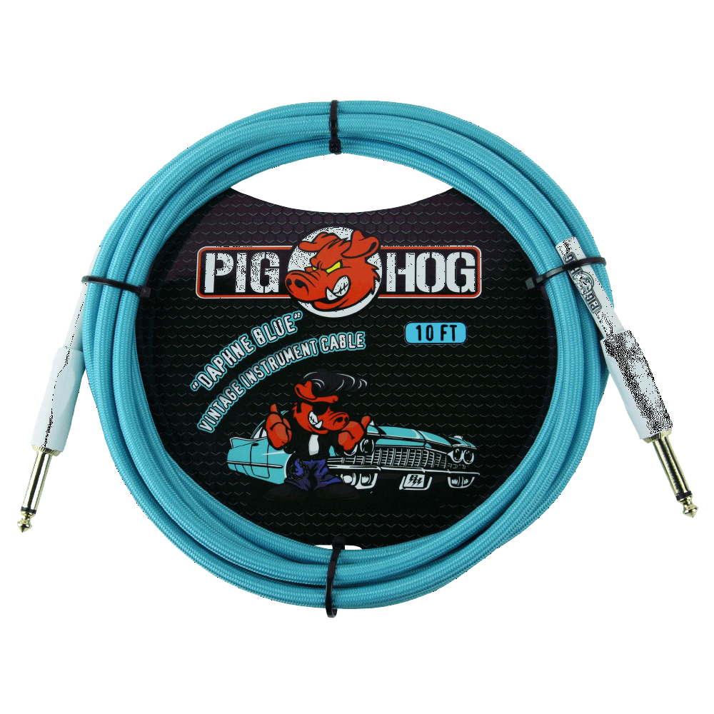 Pig Hog Instrument Cable Daphne Blue 20ft