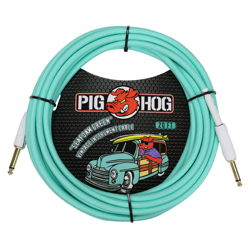 Pig Hog Instrument Cable Seafoam Green 20ft