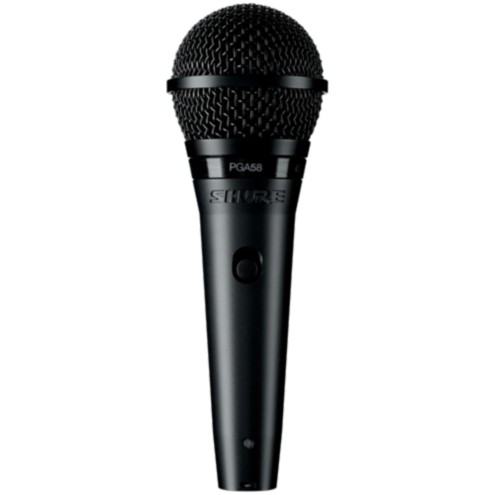 Shure PGA58 Cardioid Dynamic Vocal Microphone - XLR Cable Included