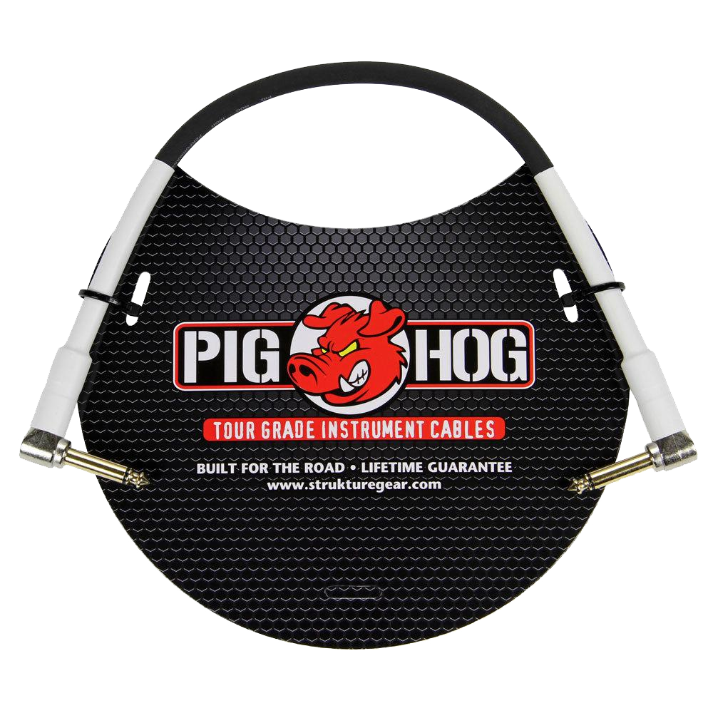 Pig Hog Instrument Cable 8mm 1ft 1/4 Right - 1/4 Right