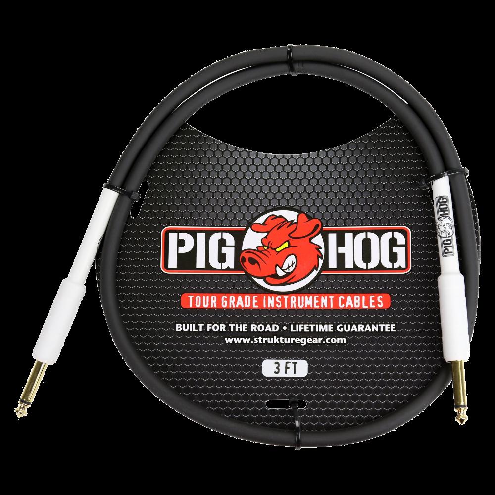 Pig Hog Instrument Cable 8mm 3ft 1/4 - 1/4