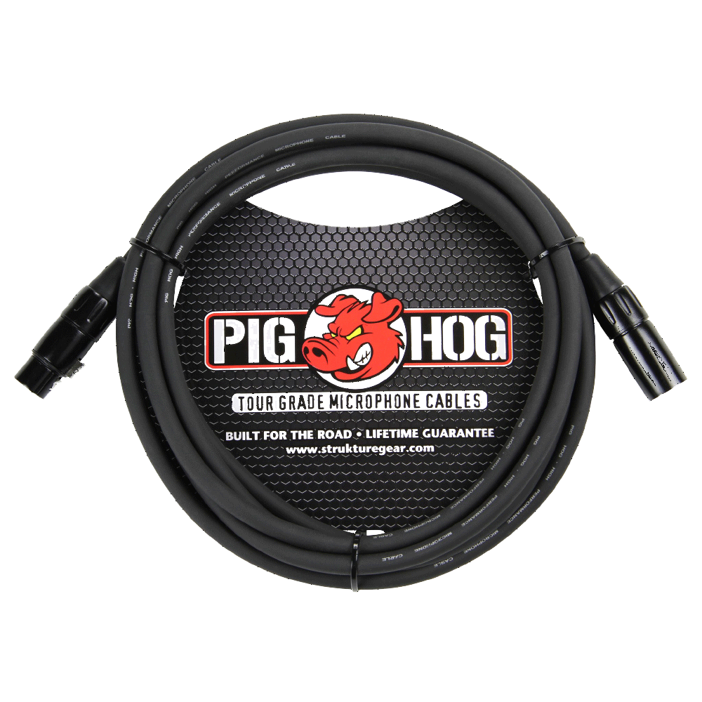 Pig Hog Mic Cable 8mm 10ft XLR
