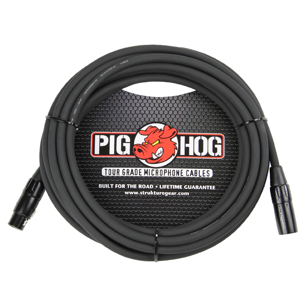 Pig Hog Mic Cable 8mm 20ft XLR