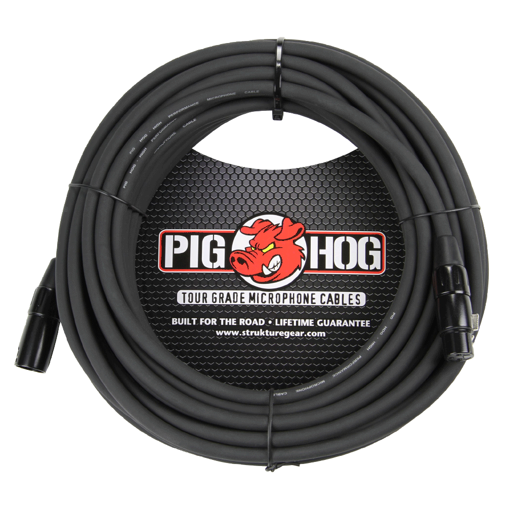 Pig Hog Mic Cable 8mm 50ft XLR