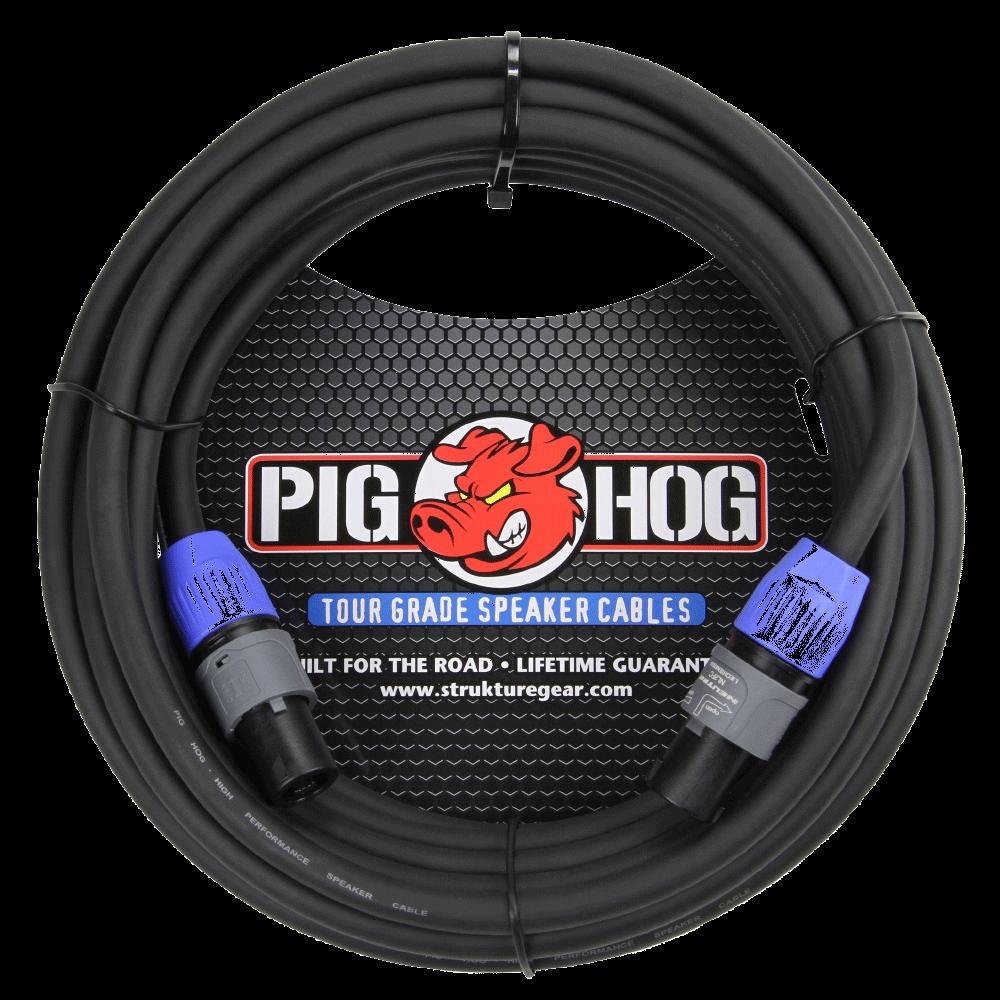 Pig Hog Speaker Cable 25ft Speakon to Speakon