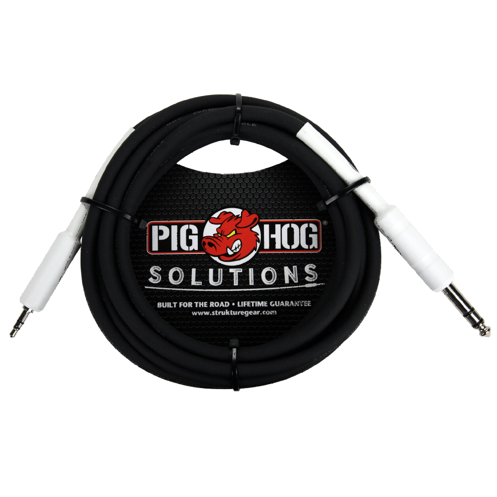 Pig Hog Solutions - 1/4 TRS to 1/8 MINI 3ft
