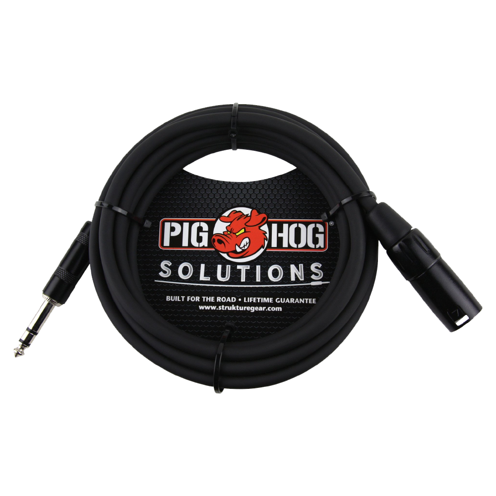 Pig Hog Solutions - 10ft TRS(M)-XLR(M) Balanced Cable