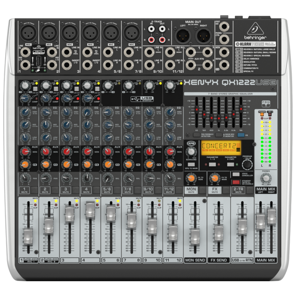 Behringer QX1222USB 16-Input Mixer w/ XENYX Mic Preamps