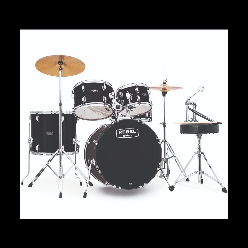 Mapex Rebel RB5044FTC Jazz Complete Drum Kit
