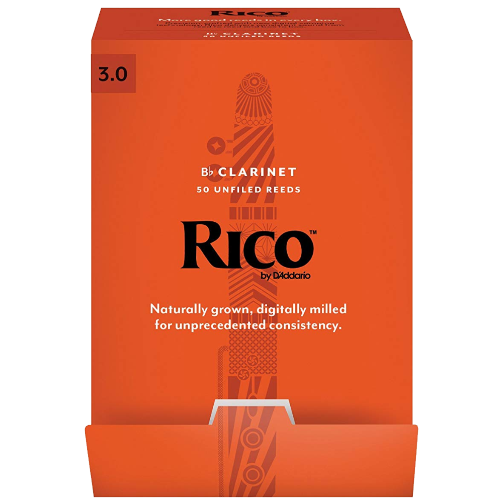 Rico by D'Addario Bb Clarinet Reeds 50-pack, Strength 3