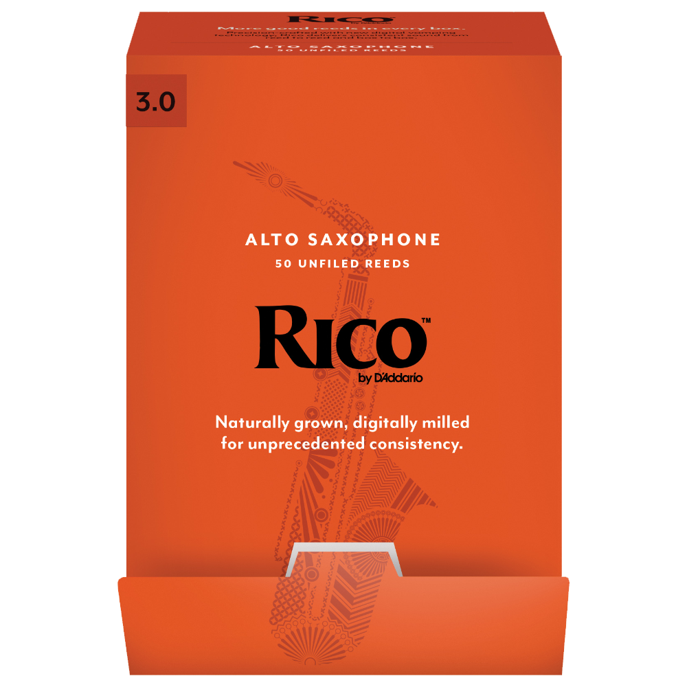 Rico by D'Addario Alto Sax Reeds 50-pack, Strength 3