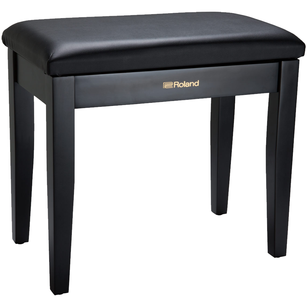 Roland RPB-100BK Black Piano Bench w/Storage Compartment
