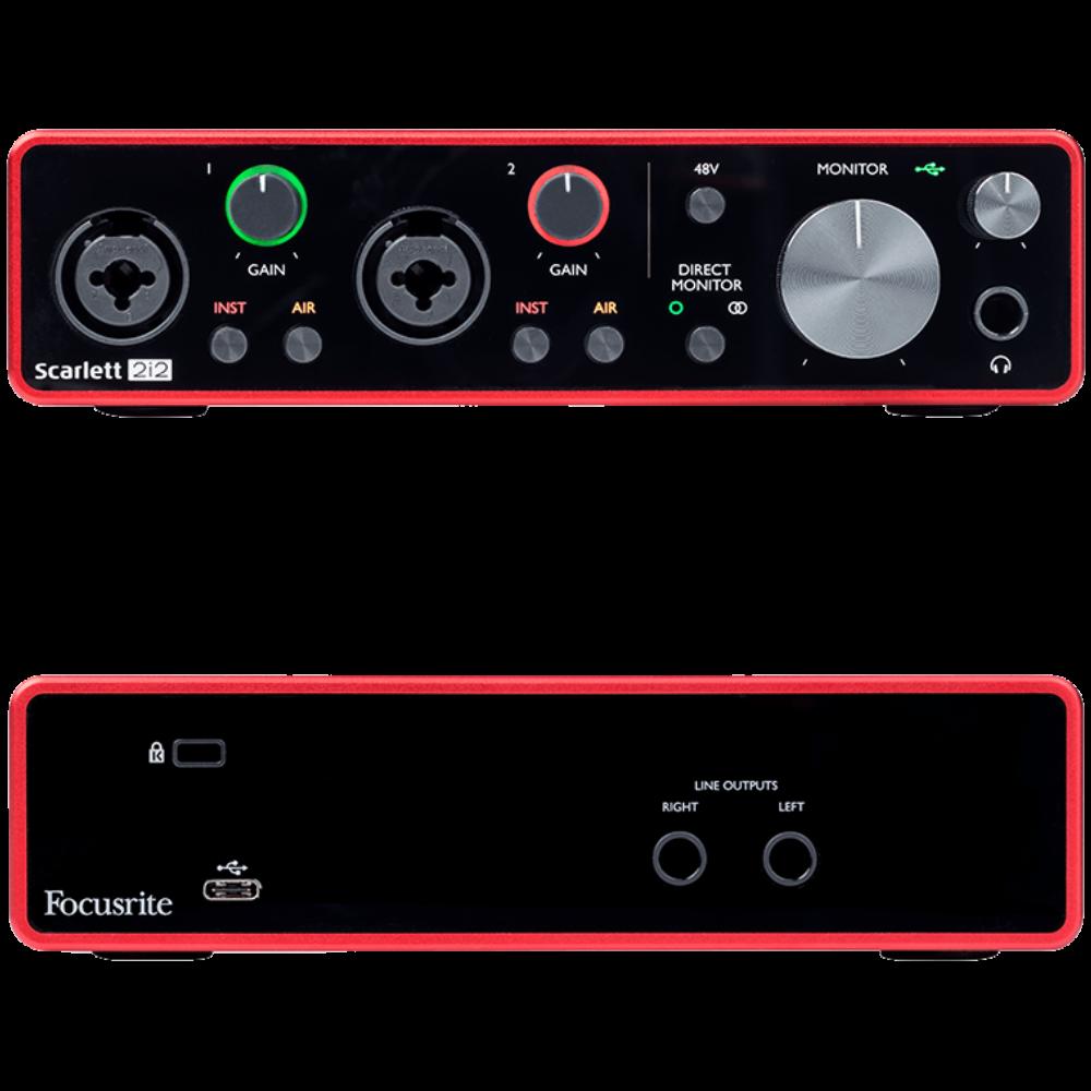 Focusrite Scarlett Solo 2-in/2-out USB Audio Interface - 3rd Gen