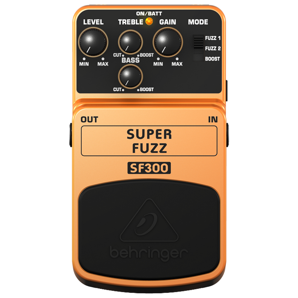 Behringer SF300 Super Fuzz Distortion Effects Pedal