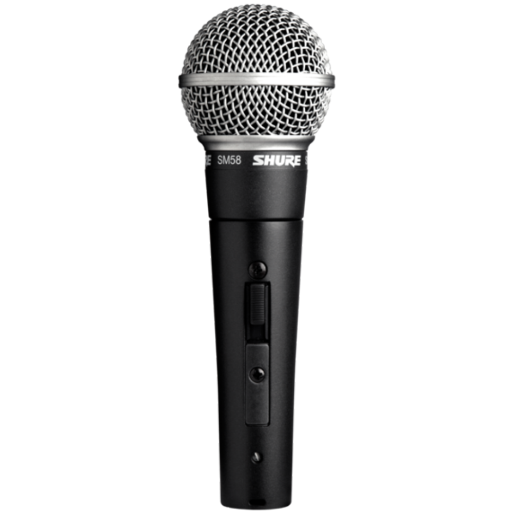 Shure SM58S Cardioid Dynamic Vocal Microphone w/Switch - No Cable Included